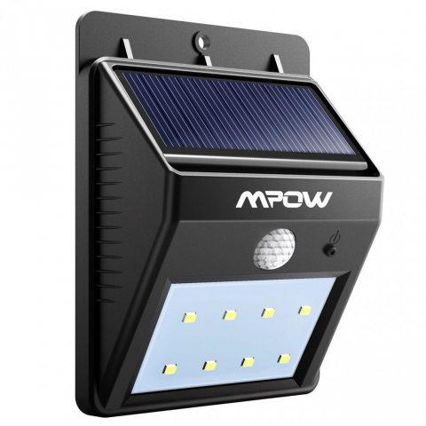 8 LED eclairage exterieur imperméable, Mpow eclairage terrasse Sans Fil Détecteur de Mouvement avec Trois Modes Intelligents