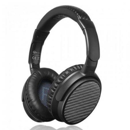 iDeaUSA Casque sans Fil Audio à Réduction de Bruit Ative (ANC) Bluetooth 4.1- 25h de lecture - Micro intégré Circum-aural Ore