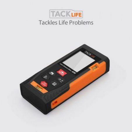 Tacklife HD 40m Télémètre Laser Numérique Metre Laser /Ecart 1.5mm /Calcule Distance Surface Volume /Fonction Pythagore /Fonc