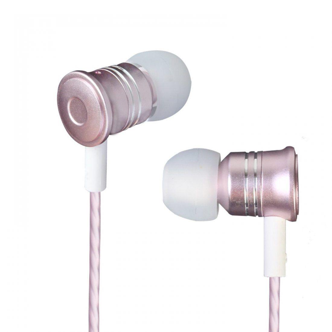 Écouteurs Intra-auriculaires Casque Stéréo Réduction de Bruit Passive Oreillette Filaire Moniko pour Mobiles,Tablettes iPhone