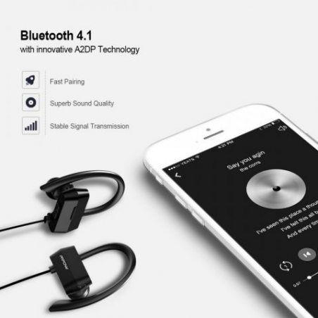 Écouteurs Bluetooth 4.1+CSR Mpow Écouteur Bluetooth Sans Fil Oreillette Bluetooth Sport Intra Auriculaire Stéréo Audio Casque