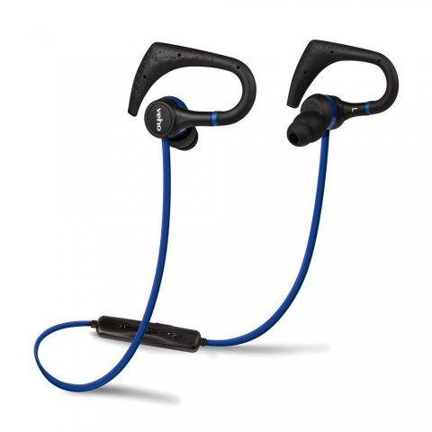 Veho VEP-007-ZB1 Ecouteurs intra-auriculaires Sport sans fil Bluetooth Noir/Bleu