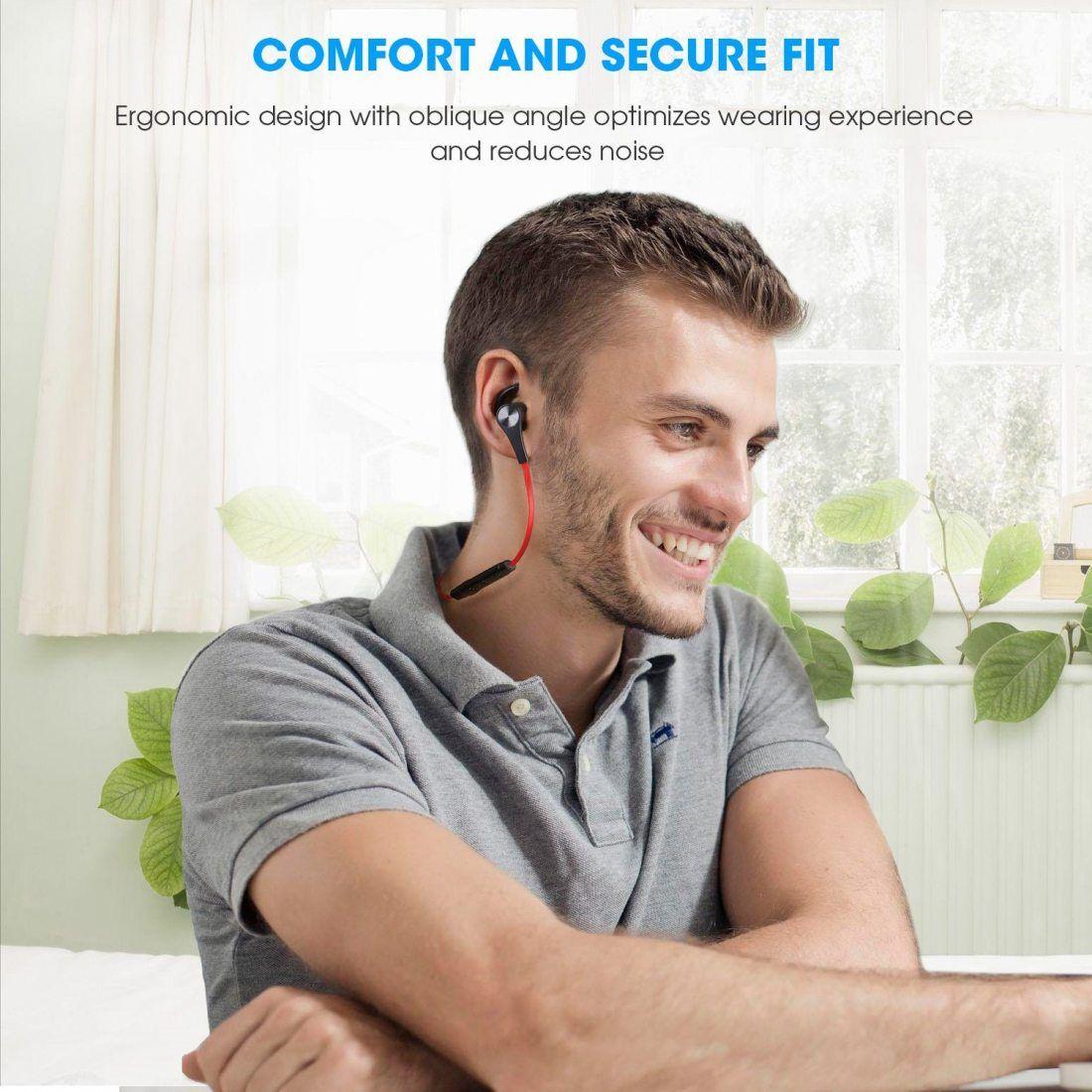 SoundPEATS Oreillettes Bluetooth 4.1 Écouteurs Magnétiques sans Fil pour Sport Casque Anti-transpiration, Bruit Réduit pour O