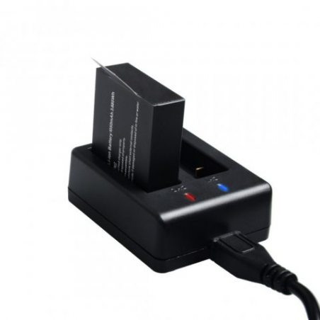Campark Caméra Sport Batterie Rechargeable 1050mAh Et Double Chargeur De Pile USB Pour Campark Action Cam ACT74,ACT76,ACT73R,