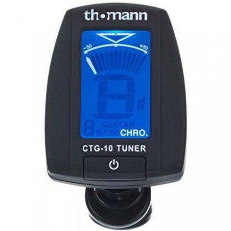 Thomann CTG-10 - Accordeur chromatique à pince pour guitare acoustique, électrique, basse