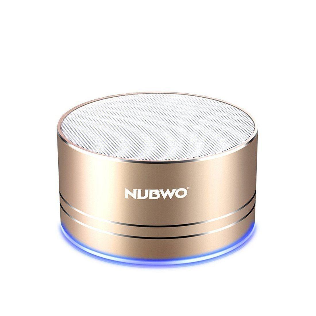 Enceinte Bluetooth, Nubwo Mini Haut-parleur de Voyage Portable Sans Fil,5 heures de Lecture,Microphone Intégré,Appel Mains-Li