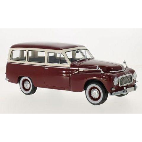 Volvo PV445 duett, rouge foncé/beige, 1956, voiture miniature, Miniature déjà montée, BoS-Models 1:18