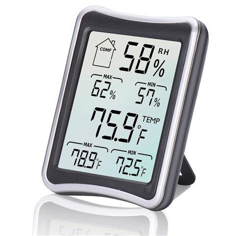 Thermomètre Hygromètre Intérieur, E2Buy® Thermomètre interieur numérique à écran LCD intérieur, Hygrothermographe numérique,