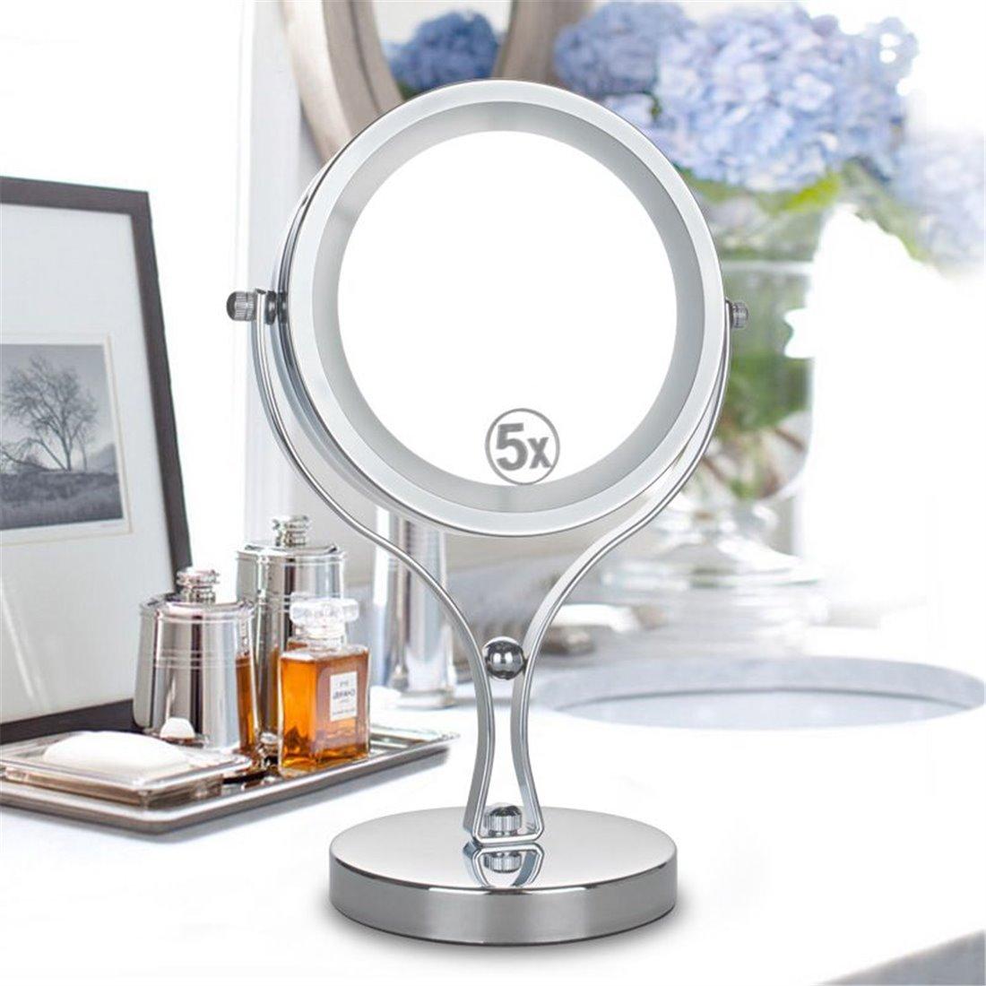 Double face 1 x -3 x grossissement ronde Miroir de maquillage portable