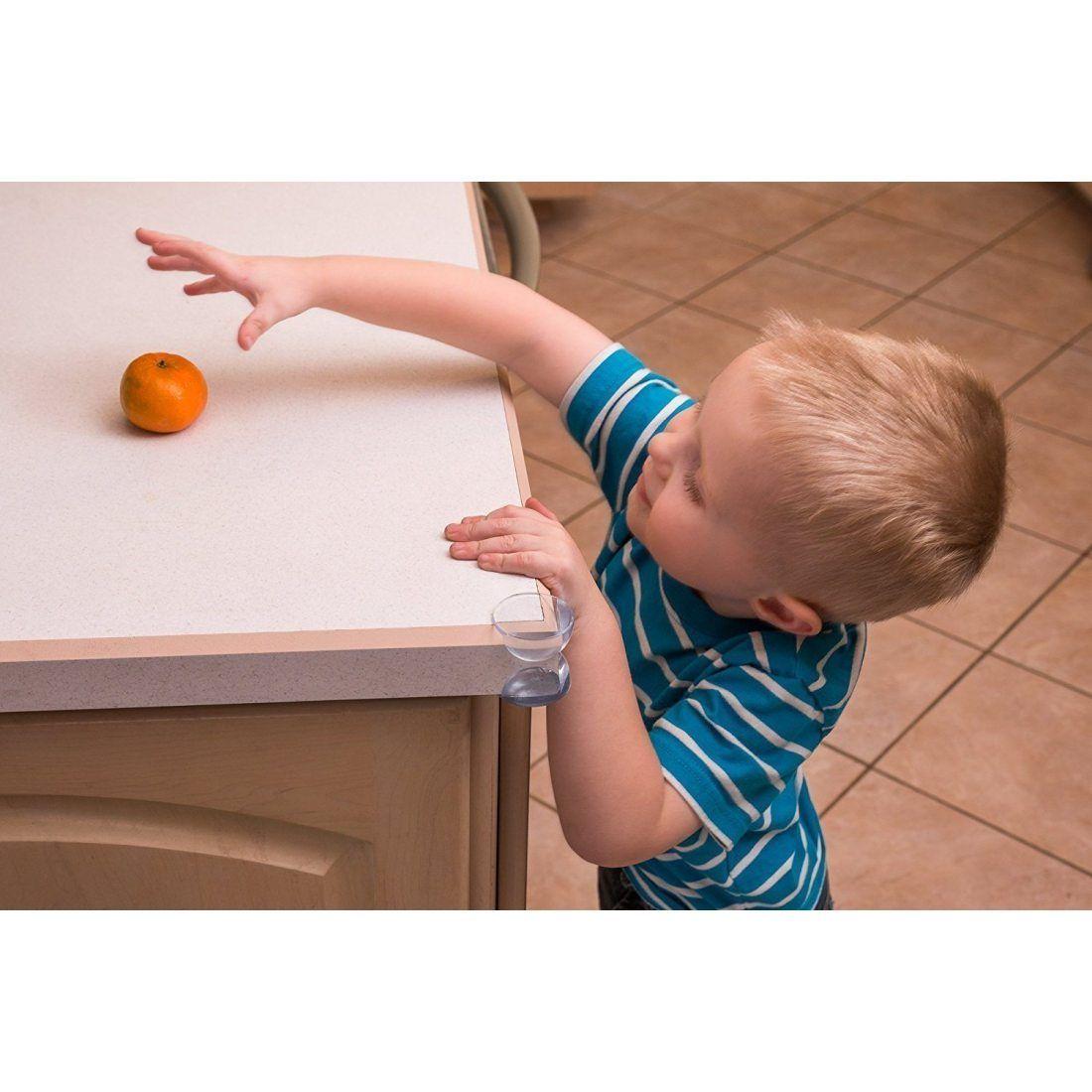 BALFER Protecteurs D'angles ( 20pcs - Large - Clair ) Protege Coin de Table - Anti-Crash Protecteurs pour Enfants, avec 20pcs