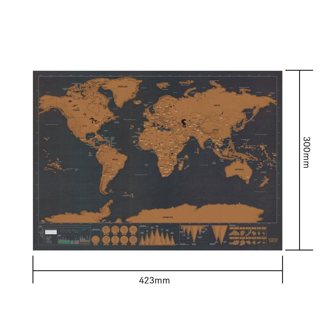 Carte du monde, Samione Scratch le monde Carte du monde à gratter Scrape off World Map - Grattez les endroits que vous avez v