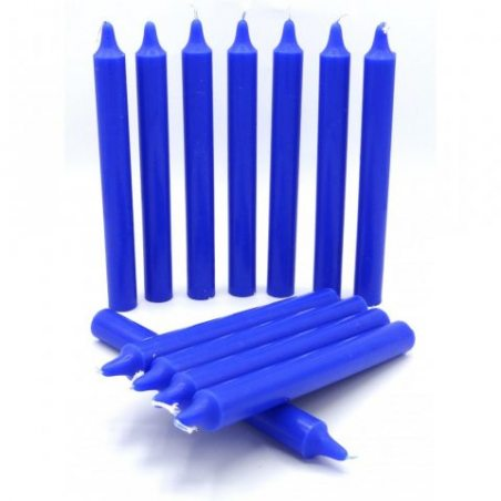 Pack de 12 bougies - bleu roi