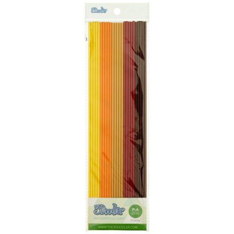 3 Doodler - 62226 - Bâton pour Stylo 3D - Fall Foliage - Lot de 25 Pièces