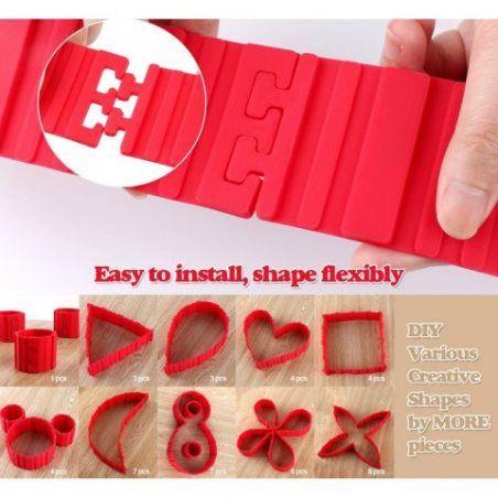 5PCS DIY Créatif Silicone Moule +Spatule en Silicone à Gâteau Magic Snake Mold Multi-puzzle Patisserie Gâteau Decoration par