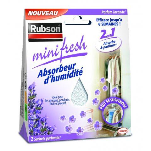 Rubson 1940377 Minifresh Sachet d'Absorbeur d'humidité 2 pièces 50 g Lavande