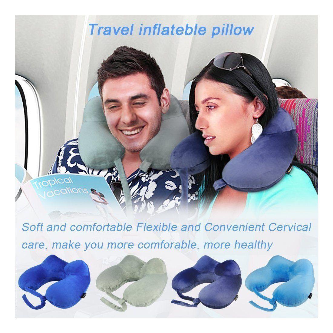 kit oreiller de voyage morecoo u oreiller coussins voyage cervical coussin gonflable est dans. Black Bedroom Furniture Sets. Home Design Ideas