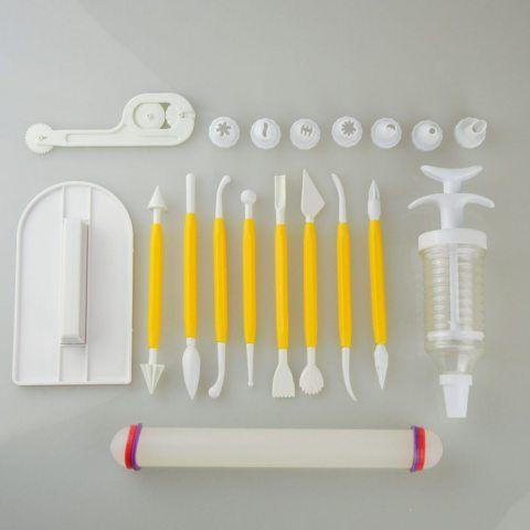 [19 pièces] Gâteau de Décoration Outils Set (DIY Kits Réutilisable) pour Décoration de Gâteaux Crème