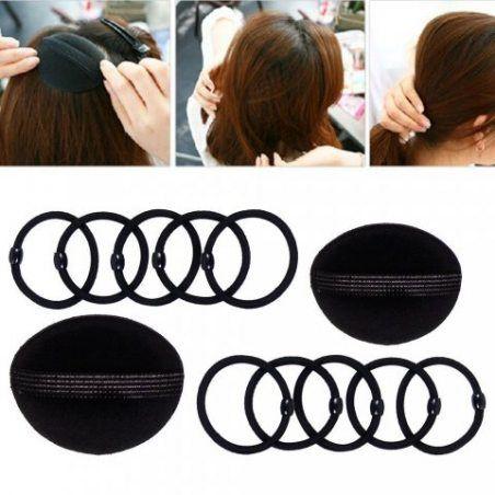 Accessoires de Coiffure, Lictin Set d'Outils de Coiffure Cheveux Coiffure Stylisée Accessoire Cheveux Filles Eponge en Mousse