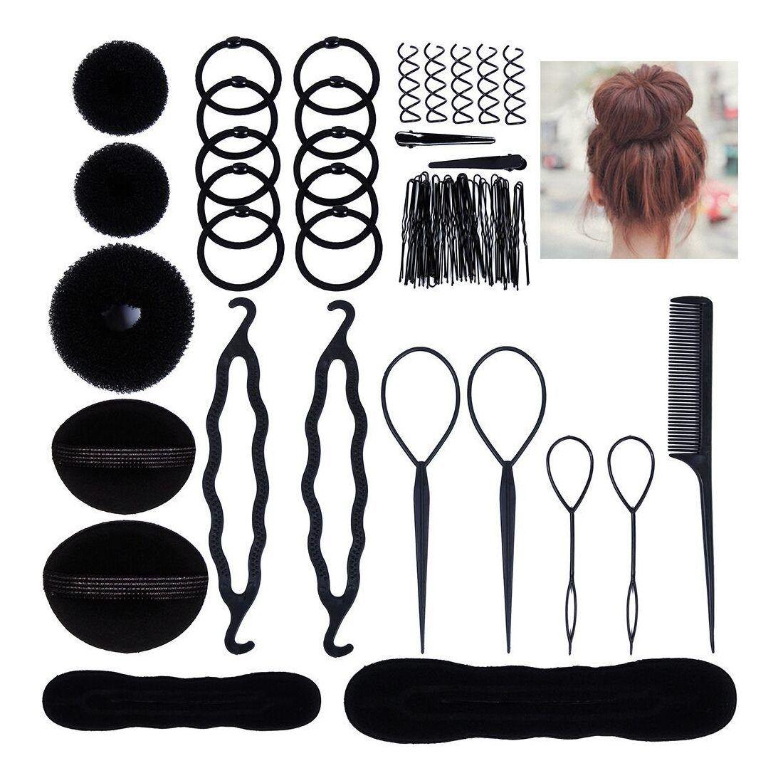paquet à la mode et attrayant nouveau authentique la plus récente technologie Accessoires de Coiffure, Lictin Set d'Outils de Coiffure Cheveux Coiffure  Stylisée Accessoire Cheveux Filles Eponge en Mousse