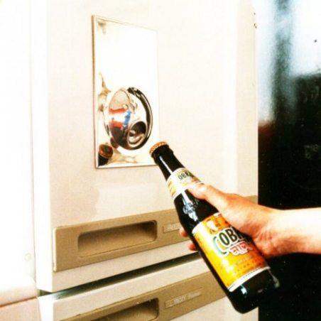 SUCK UK Décapsuleur aimanté pour réfrigérateur - Blanc