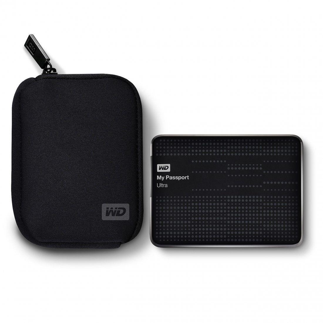 WD - WDBABK0000NBK-ERSN - Housse pour Disque Dur Externe Portable - Noir