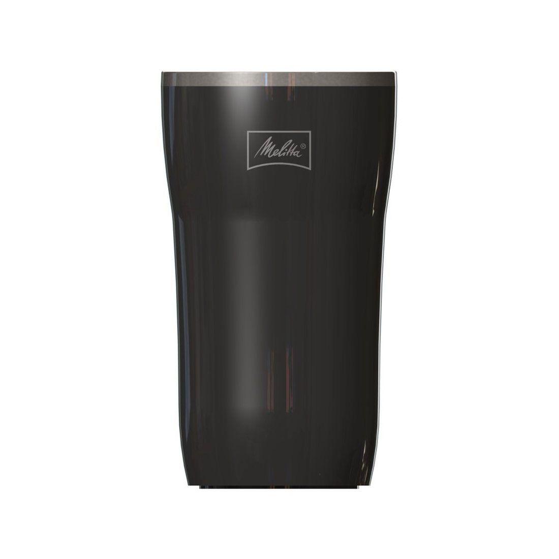 Melitta Mug Isotherme, Fermeture par Pression, 100% Hermétique, 250 ml, Noir