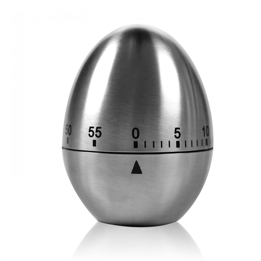 Minuteur Oeuf - Kasos Minuterie de Cuisine en Acier Inoxydable Minuteur Mécanique Alarme de Cuisson en Forme d'Oeuf 60 Minute