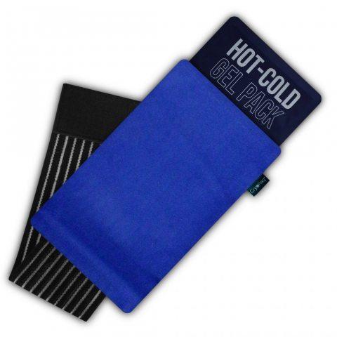 Gelpacksdirect - Poche de gel réutilisable - chaud/froid - avec housse de compression - petite taille (14 x 13 cm)