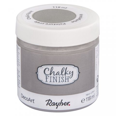 Peinture craie (Chalky Finish) - gris clair - 118 ml - Rayher