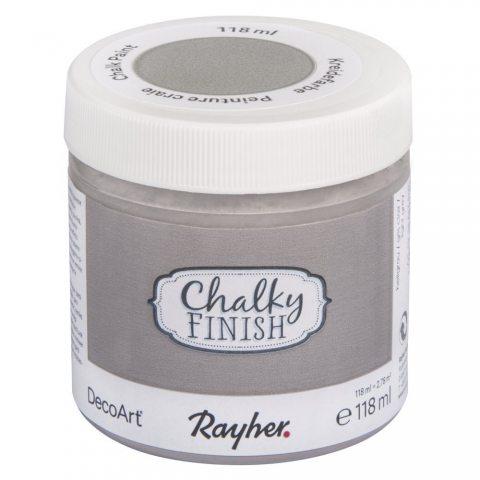 Peinture craie (Chalky Finish) - gris clair - 118 ml - Rayher