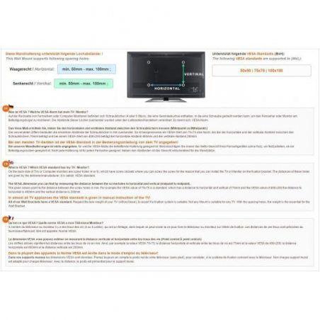 RICOO R02-11 Support ecran PC ordinateur Meuble TV Suspendu Mural bras télé articulé Orientable Inclinable 3D OLED LED LCD Pl