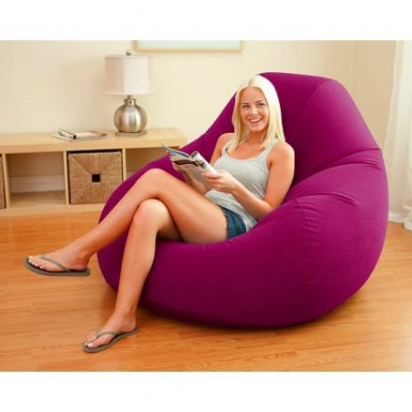 Pouf gonflable Deluxe Beanless Bag Chair Violet Intex