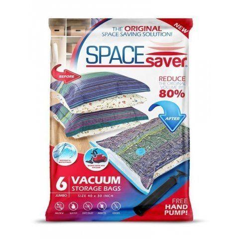 Sacs de Rangement Sous Vide Jumbo 100x80cm Premium Space Saver + Sans Hand-Pump Pour Voyage.(80% de L'espace de Stockage Plus