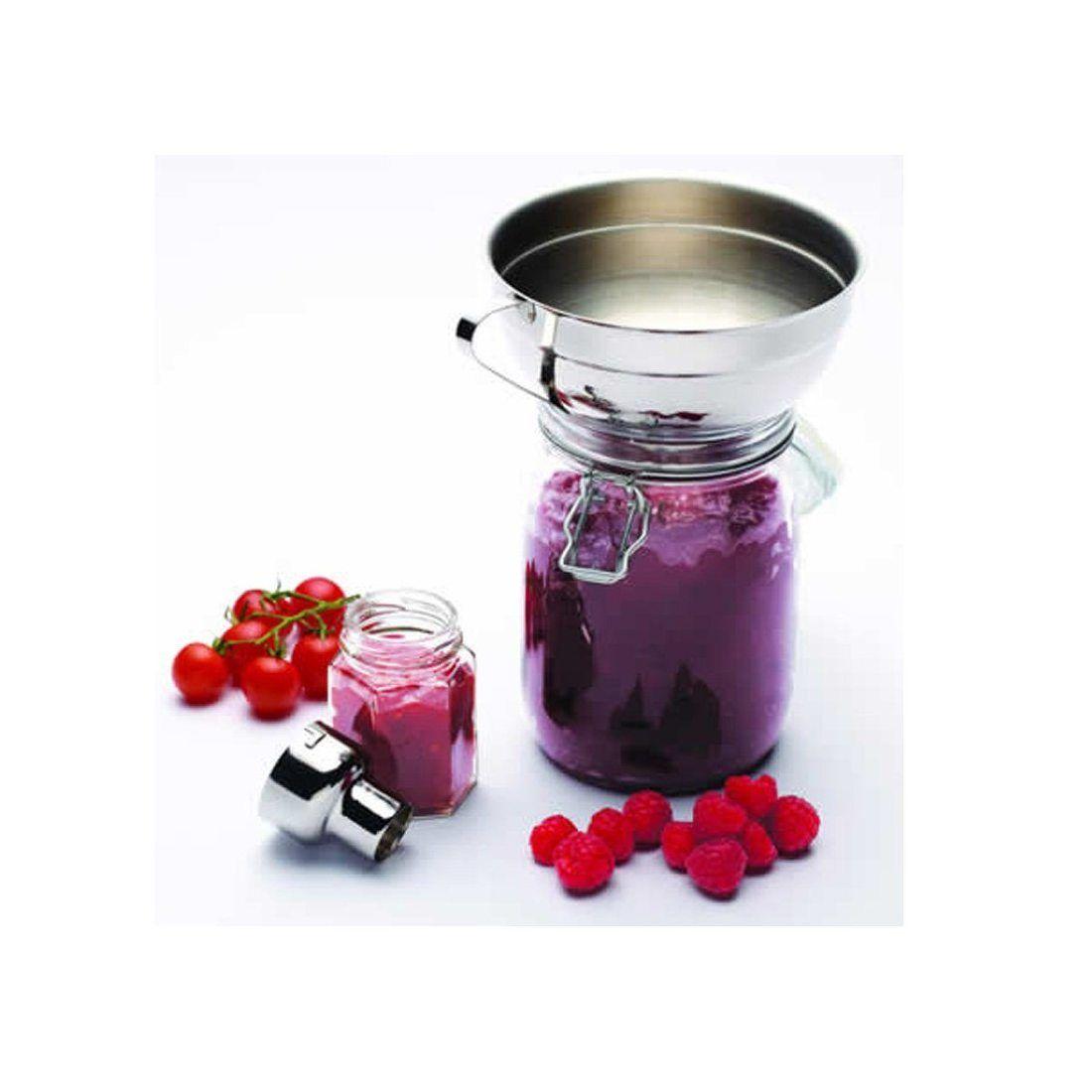 Home Made Kitchen Craft Entonnoir réglable en acier inoxydable