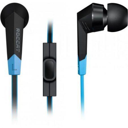 Roccat Syva - High Performance In-Ear Headset (Microphone Intégré au Câble, Call/ Play-Bouton) Noir
