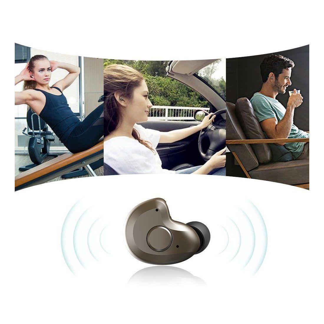 Oreillette Bluetooth 4.1, AngLink mini Écouteur Bluetooth AVEC MICRO Oreillette sans fil Mains-libres pour iPhone, Samsung Ga