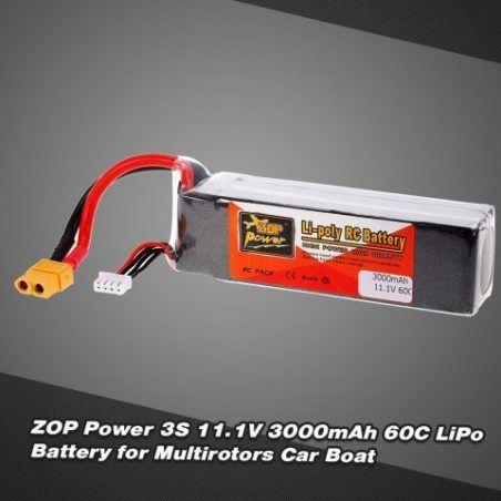 Goolsky Zop Power 3 s 11.1 v 3000mAh 60C Haut Débit XT60 plug LiPo Batterie pour F330 350 450 FPV Quadcopter RC Voiture Batea