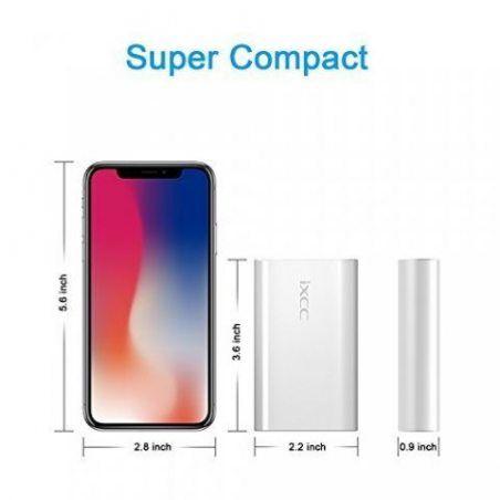 Batterie Externe, iXCC 5200mAh Chargeur Portable Rapide pour iPhone, iPad, Samsung Galaxy, LG, Huawei HTC, Xiaomi, et les Sma