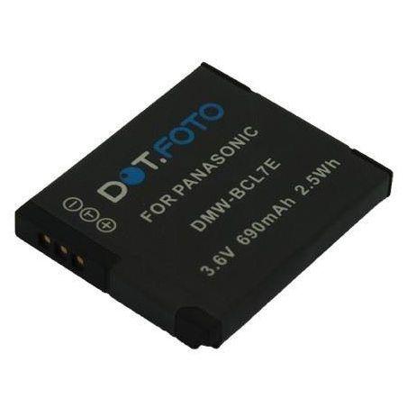 Dot.Foto Batterie de qualité pour Panasonic DMW-BCL7, DMW-BCL7E, DMW-BCL7PP - 3,6v / 690mAh - garantie de 2 ans - Panasonic L