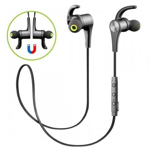 SoundPEATS Écouteurs Bluetooth 4.1 AptX Stéréo Intra-auriculaires Casque Sport sans Fil Oreillettes Magnétiques avec Micro po