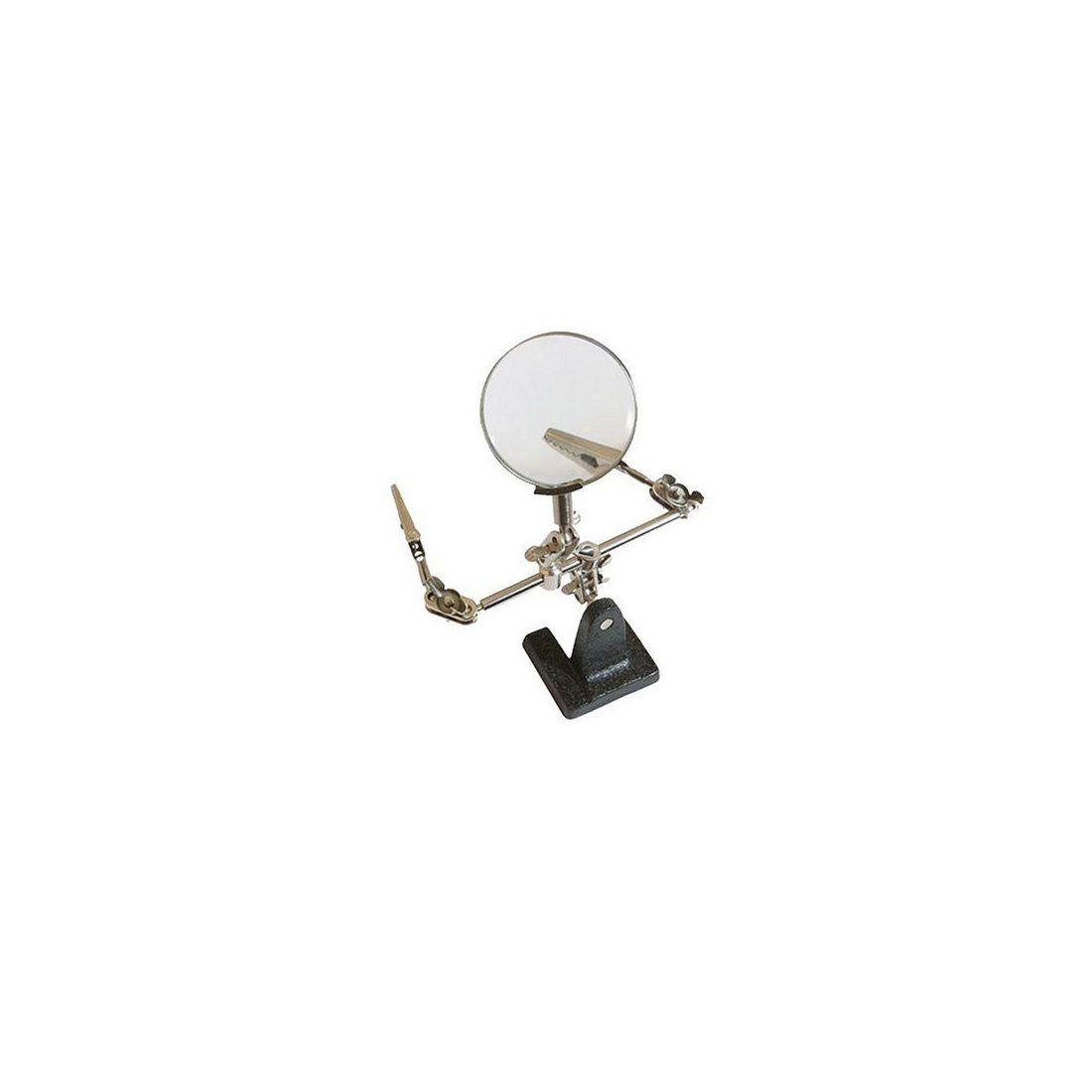 Silverline 633830 Support pour travailler avec loupe et pinces 63mm 2.5x