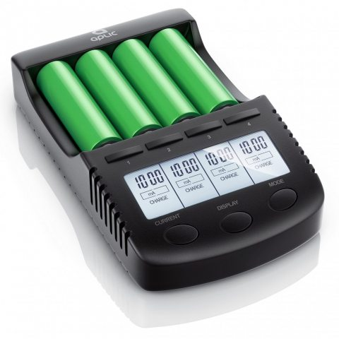 Aplic - Chargeur pour batteries rechargeable (accus) par port USB   Station de recharge universelles à 4 baies intelligent  