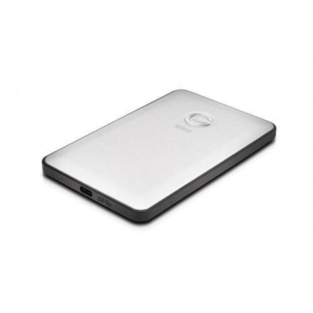 G-Technology Disque dur externe SSD portable et fin, USB-C 1 To, couleur argent