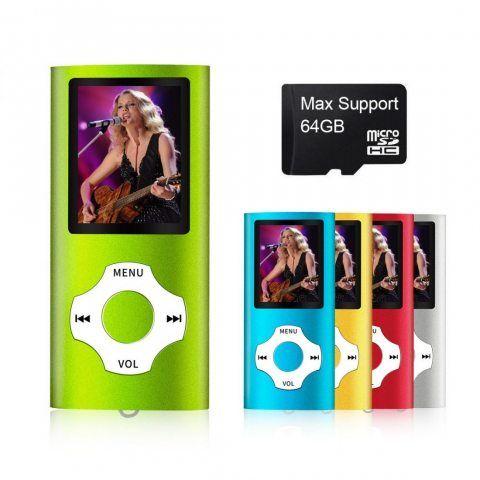 Mymahdi - lecteur MP3/MP4 numérique, compact et portable (prise en charge max. carte micro SD 64Go) avec visionneuse photo,
