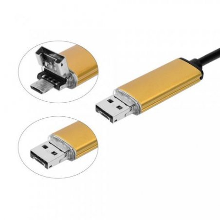 [ Garantie 1 an ] Camera d' Inspection Endoscopique 5 Mètres USB 2 en 1 Waterproof IP67 7 mm de diamètre 6 LED pour SAMSUNG G