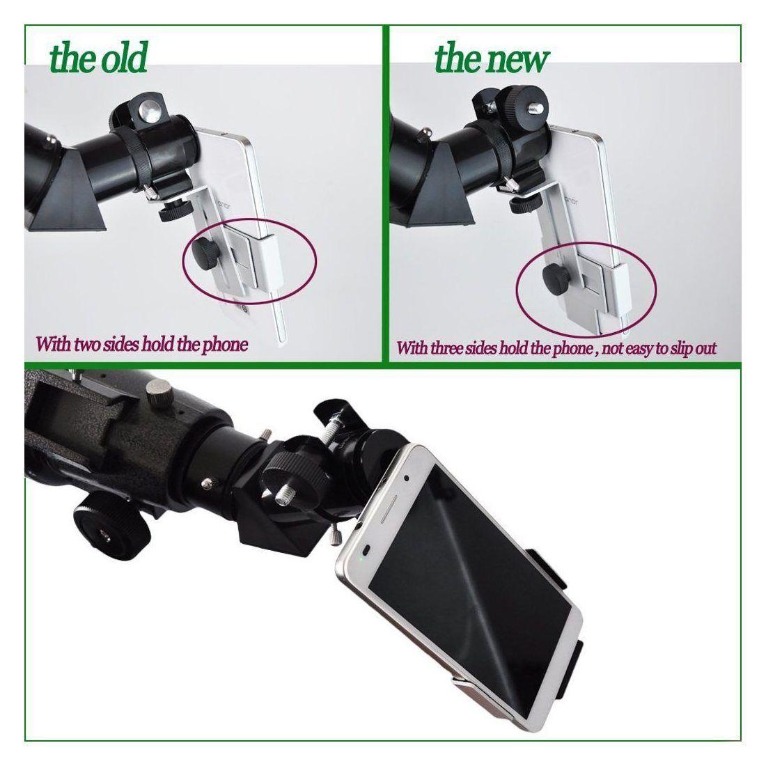 Gosky Métal Smartphone adaptateur et support de fixation pour trépied pour longue-vue/télescope/microscope/Jumelles 31. 75mm