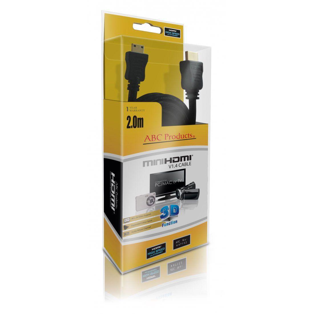 ABC Products® Remplacement Panasonic Mini C HD HDMI Câble Pour la plupart Lumix Appareil Photo Numérique (modèles indiqués ci