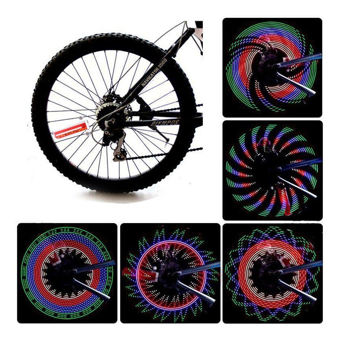 Bliplus Eclairage pour Vélo colorées 32 LED Eclairage Roue de Vélo Spoke Light pour Outdoor équitation