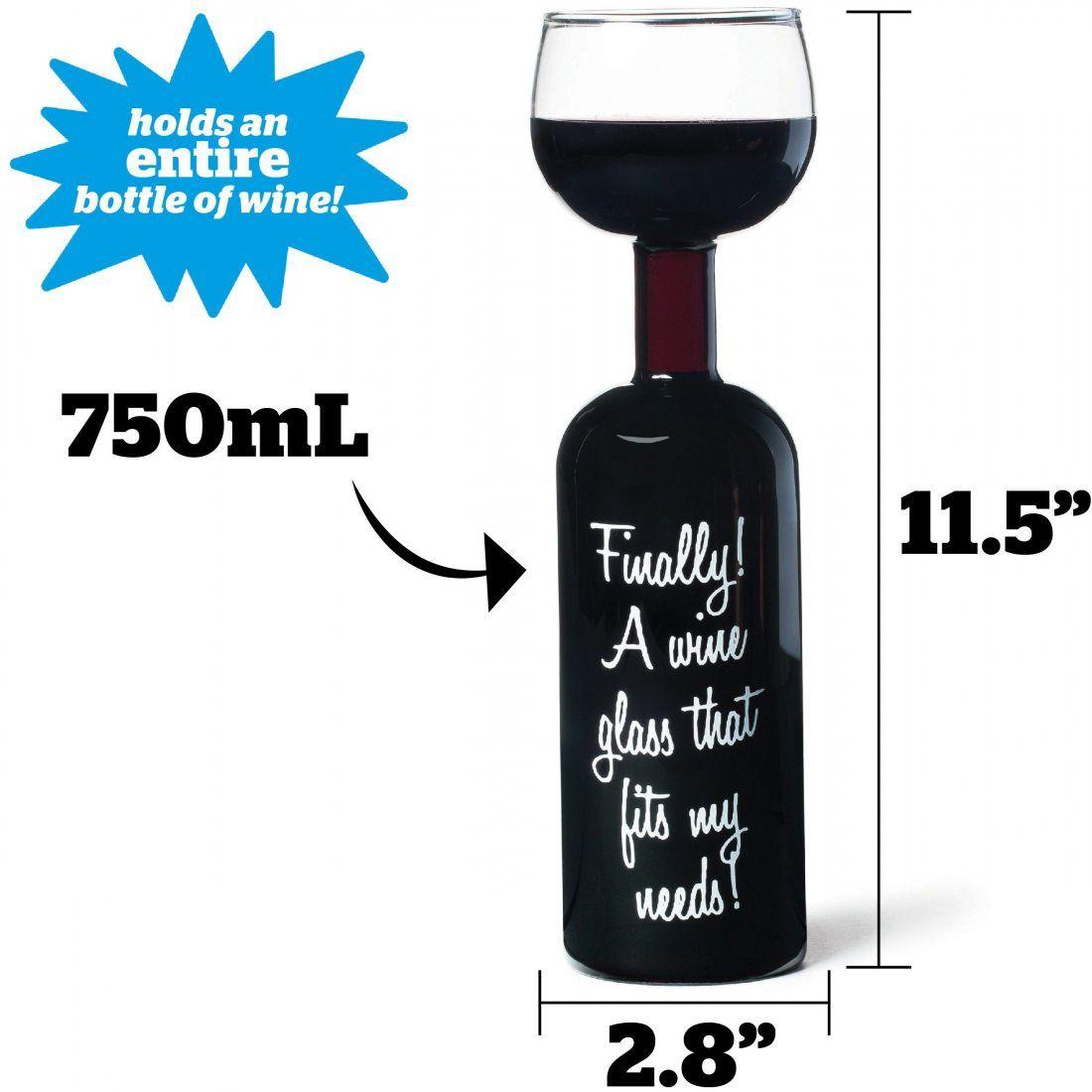 BigMouth Inc Ultime Bouteille de Vin en Verre
