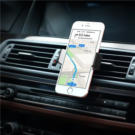 UGREEN Support Téléphone Voiture à Grille d'Aération avec Rotation 360° pour iPhone X/ 8 Plus/ 8/ 7 Plus, Samsung Galaxy S8/